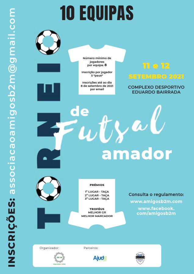 TORNEIO DE FUTSAL AMADOR - AB2M - 11 e 12 de setembro de 2021
