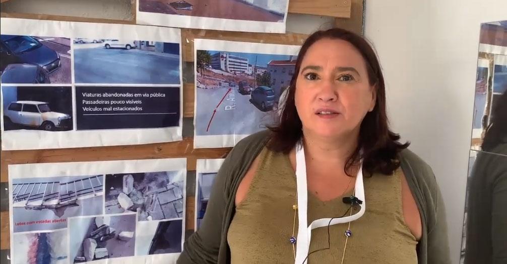 Sandra Alves, presidente da Associação Amigos do Bairro 2 de Maio, apresenta a Incubadora em Movimento, uma iniciativa em que a JFA se apresenta como co-promotora